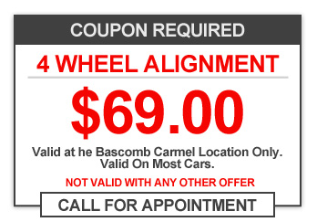 4 Wheel Alignment $39.00 Coupon